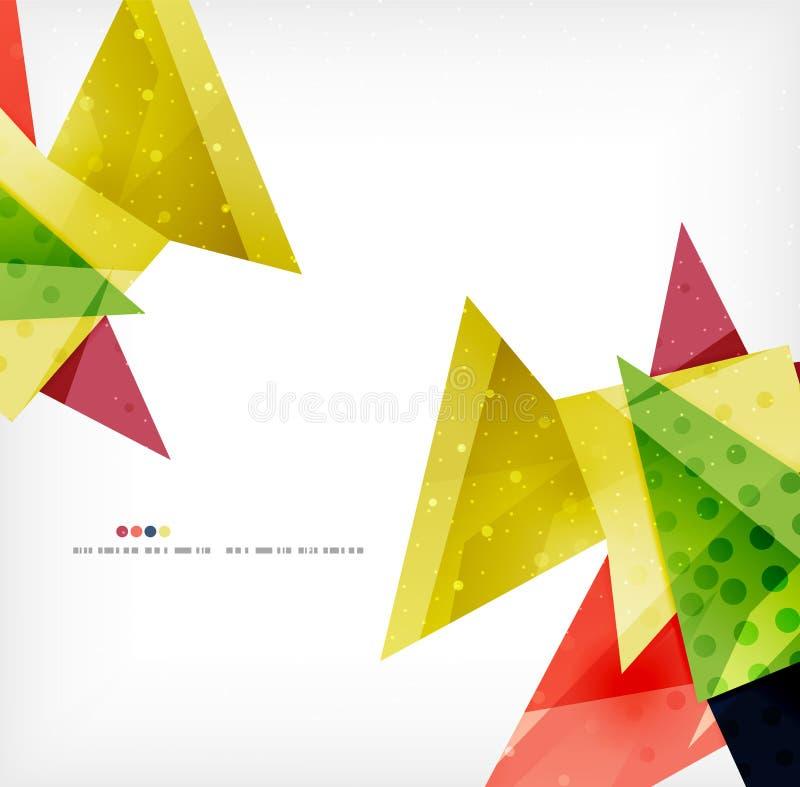 Futuristisk bakgrund för geometriskt formabstrakt begrepp royaltyfri illustrationer