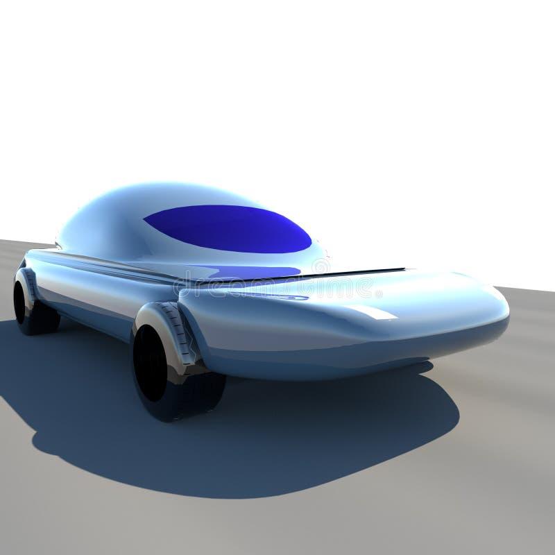 Futuristisk bil 3d royaltyfri illustrationer