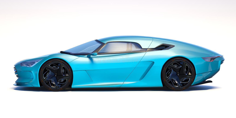 Futuristisk bil för begrepp 3d royaltyfri fotografi