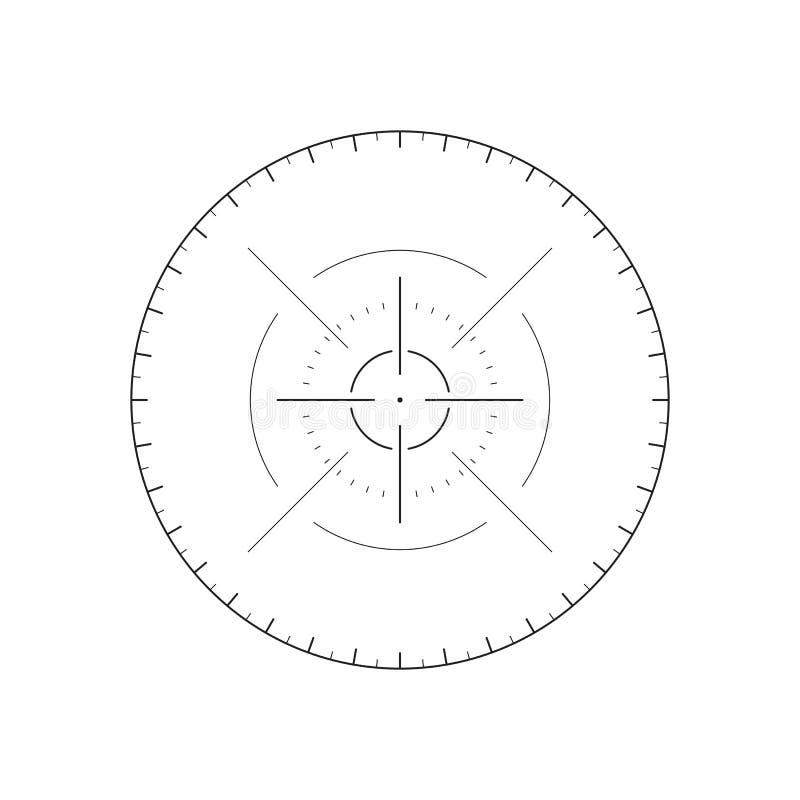 Futuristisk crosshair för användargränssnitt vektor illustrationer