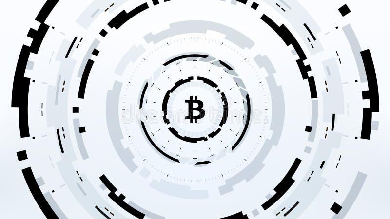 Futuristisk design för Bitcoin Cryptocurrency vektorillustration vektor illustrationer