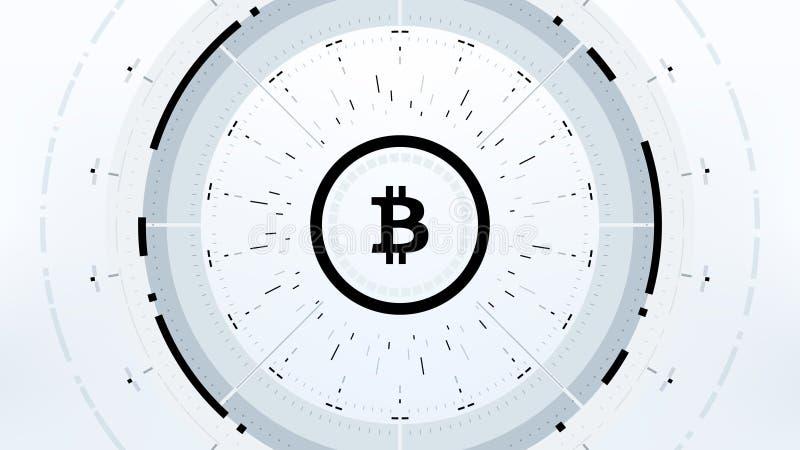 Futuristisk design för Bitcoin Cryptocurrency vektorillustration royaltyfri illustrationer