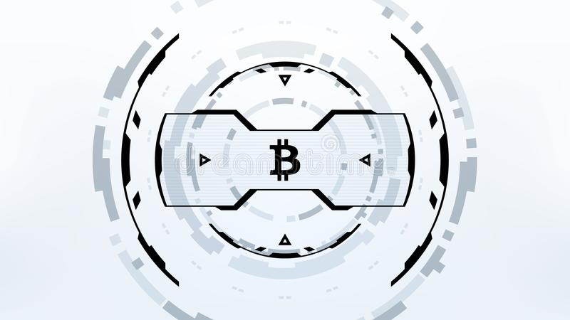 Futuristisk design för Bitcoin Cryptocurrency vektorillustration royaltyfri illustrationer
