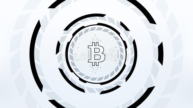 Futuristisk design för Bitcoin Cryptocurrency vektorillustration stock illustrationer