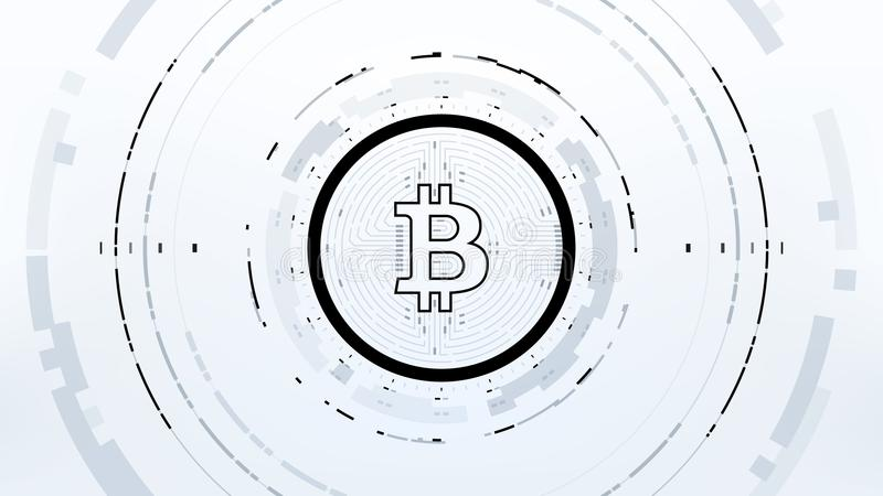 Futuristisk design för Bitcoin Cryptocurrency vektorillustration vektor illustrationer