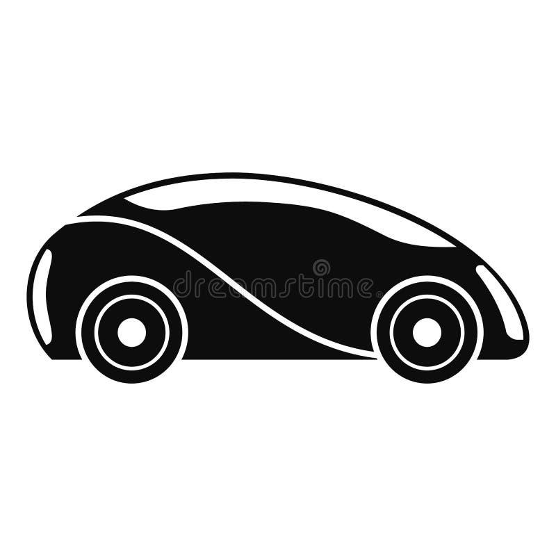 Futuristisk driverless bilsymbol, enkel stil royaltyfri illustrationer