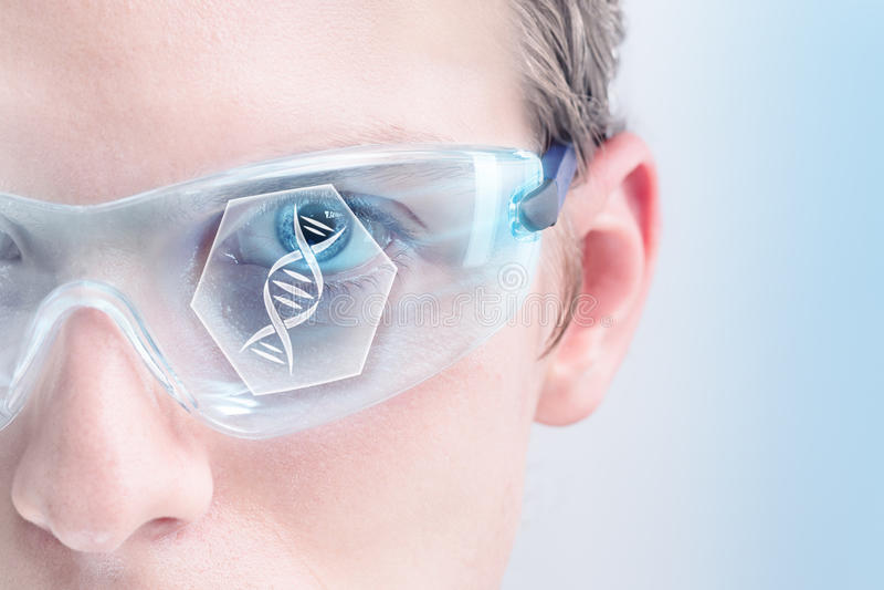 Futuristisk genetik arkivbilder