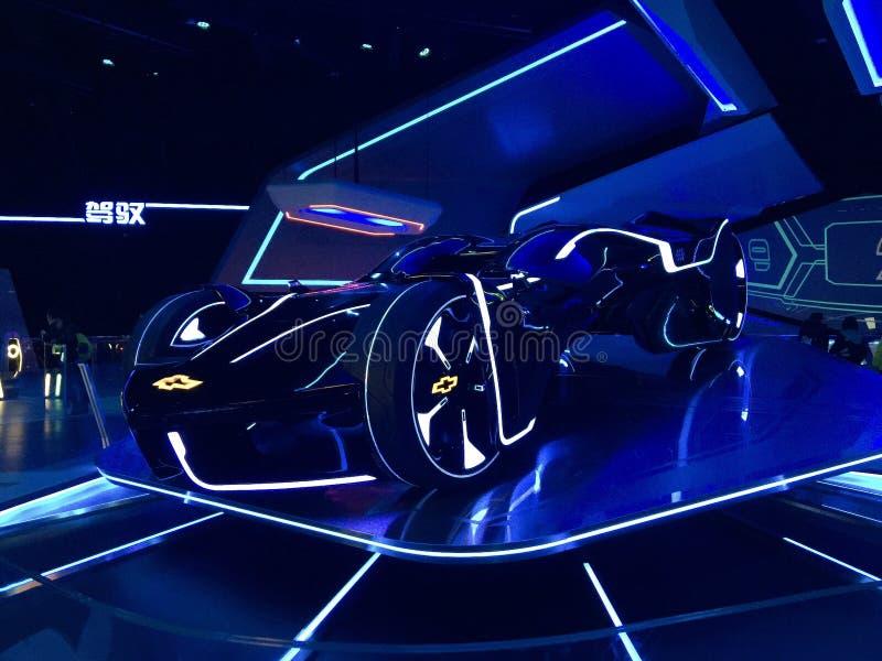 Futuristisk GM-bil royaltyfria bilder