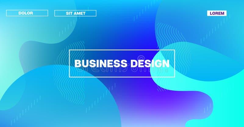 Futuristisk horisontalmodell för lutningsamkopieringsvektor Regnbågsskimrande landa geometrisk mall för sidarengöringsduk Modernt stock illustrationer