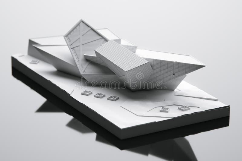 Futuristisk husmaket - begreppsmässig arkitekturidé 3d framför royaltyfri fotografi