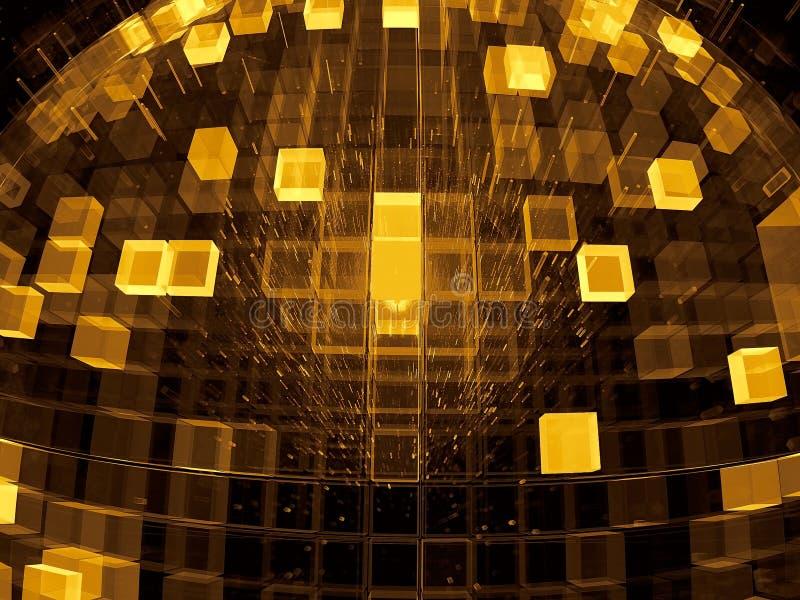 Futuristisk konstruktion - kupol - abstrakt begrepp frambragte digitalt im stock illustrationer