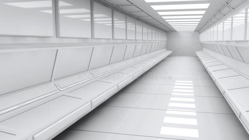 Download Futuristisk korridor stock illustrationer. Illustration av design - 37349782