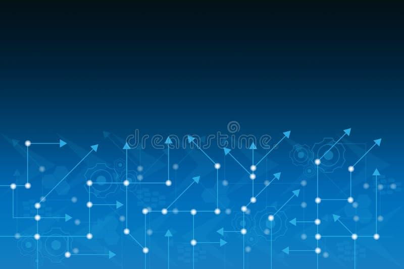 Futuristisk linje bakgrund för abstrakt begrepp för datateknik för bräde för elektronisk strömkrets royaltyfri illustrationer