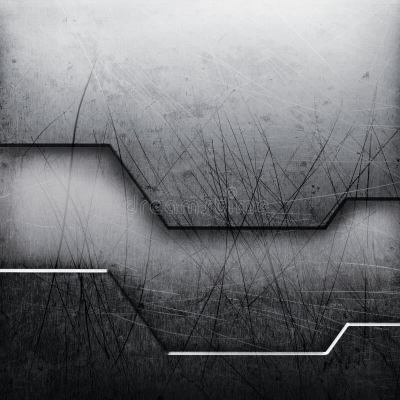 Futuristisk metallbakgrund för Grunge royaltyfri illustrationer