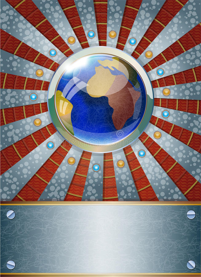 Futuristisk metallisk bakgrund. royaltyfri illustrationer