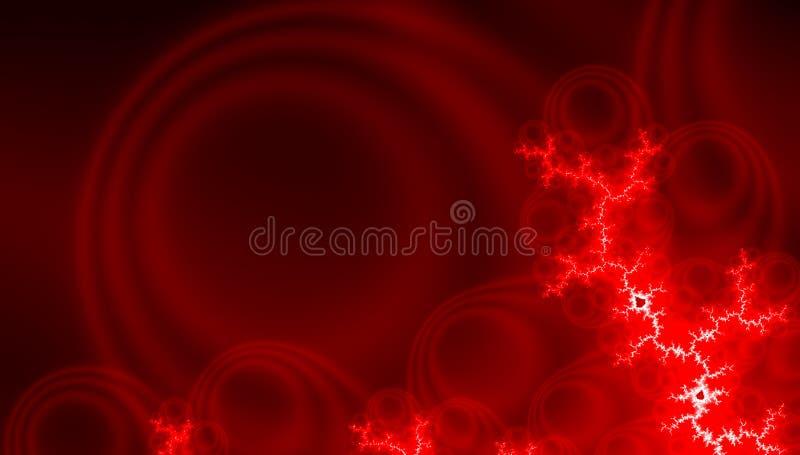 Futuristisk modell för modern fractal i röd neonfärg abstrakt bakgrundselement Nattgl?deffekt Abstrakt teknologikort royaltyfri fotografi