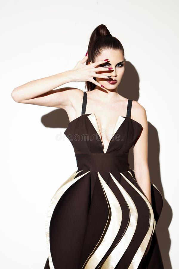 Futuristisk modemodell royaltyfria foton