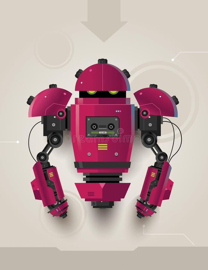 Futuristisk robot 02 för hög Tech royaltyfri foto