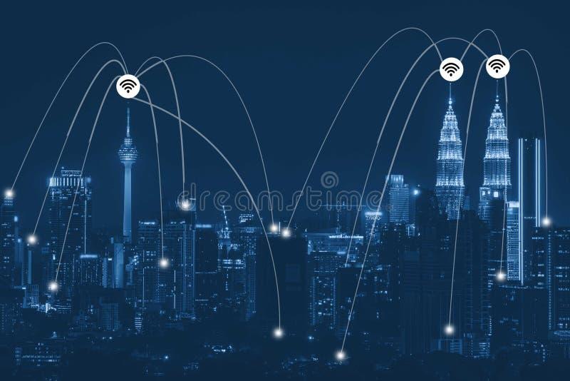 Futuristisk strömkrets för nätverkssammanlänkning arkivfoton