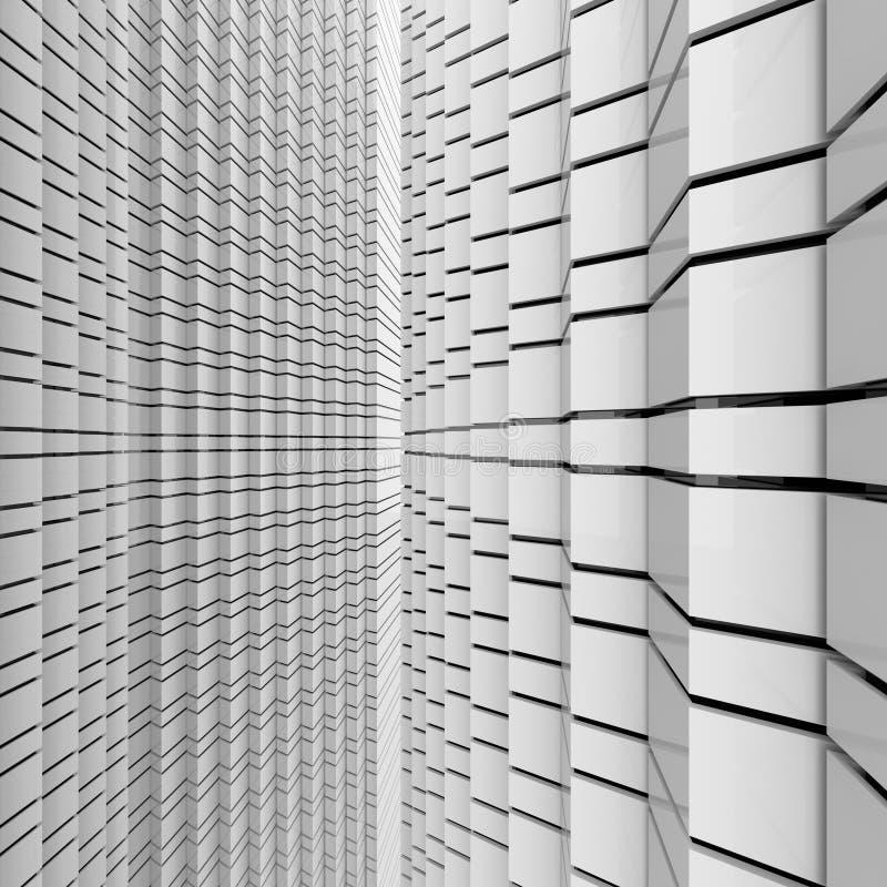 Futuristisk svartvit bakgrund royaltyfri foto