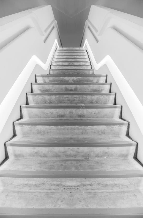 Futuristisk trappa arkivfoton