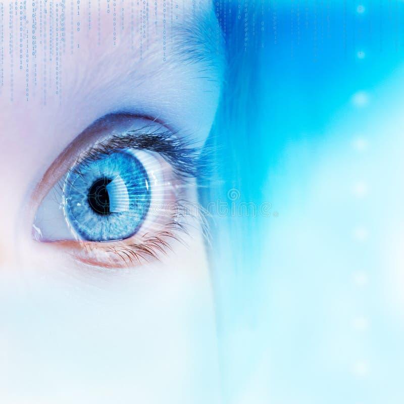 Futuristiskt ögonbegrepp. vektor illustrationer
