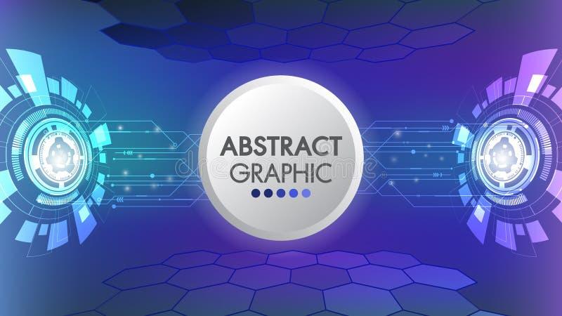 Futuristiskt glödande begrepp för abstrakt för hastighetsteknologiinnovation science fiction för design Bakgrund för vektor för V vektor illustrationer