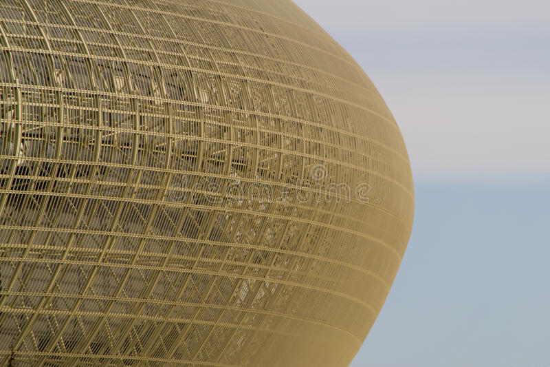 Futuristiskt modernt byggnadsfragment royaltyfri foto