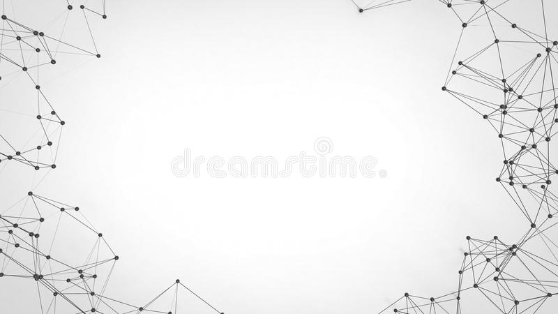 Futuristiskt nätverk för abstrakt teknologi - plexusbakgrund royaltyfri bild