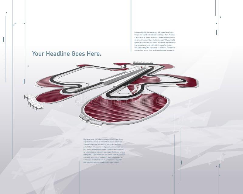 Futuristiskt Sepang F1 tävlings- spår stock illustrationer