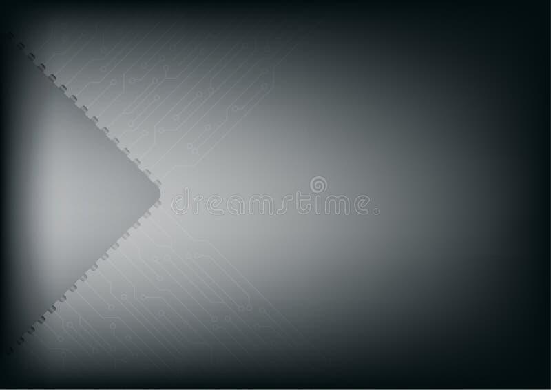 Futuristiskt strömkretsbräde för vektor, elektroniskt mikrochipsbräde, Co stock illustrationer