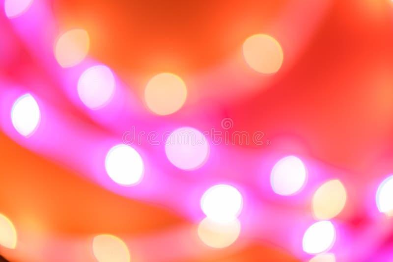 Futuristiskt suddigt neonfall gult, orange och rosa royaltyfri fotografi