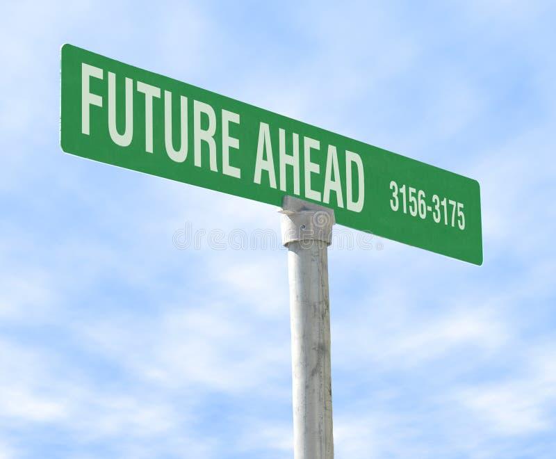 Futuro adiante imagem de stock