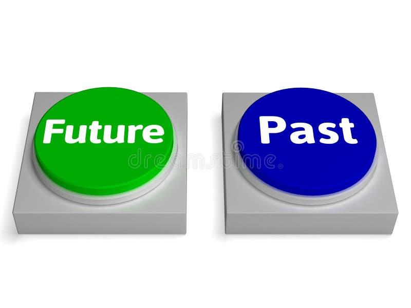 Futuro após mostras Destiny Or History dos botões ilustração royalty free