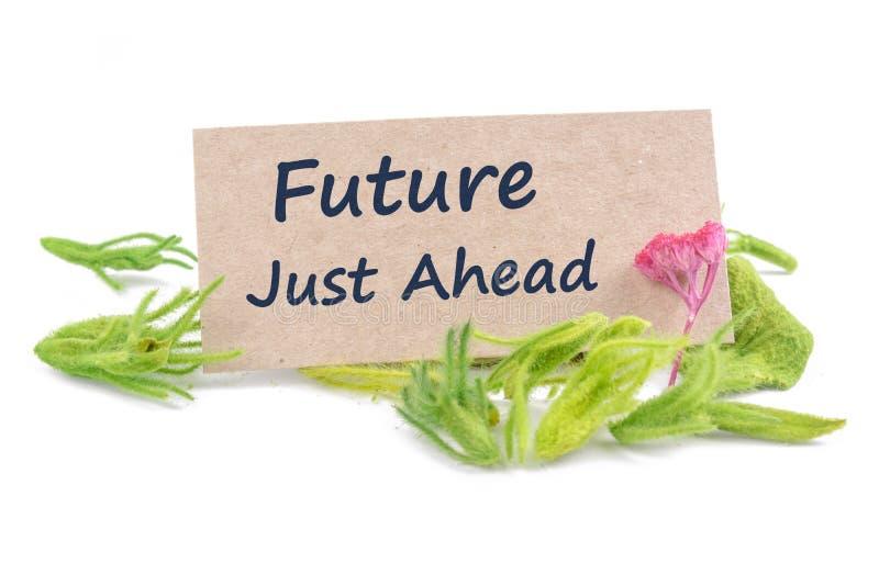 Futuro apenas adiante no cartão imagens de stock royalty free