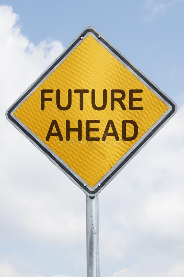 Futuro avanti immagine stock