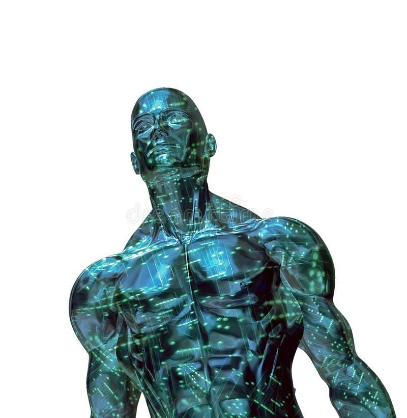 futuro de 3D Digitaces stock de ilustración