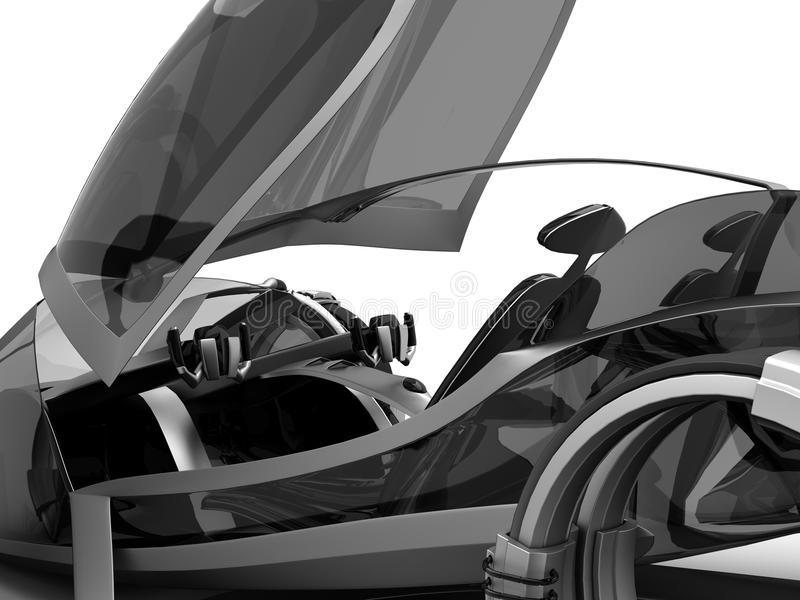Download Futuro de Conceptcar ilustração stock. Ilustração de farol - 16869562