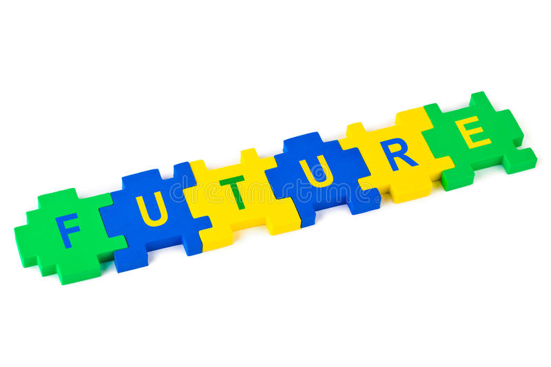 Futuro del rompecabezas imagen de archivo