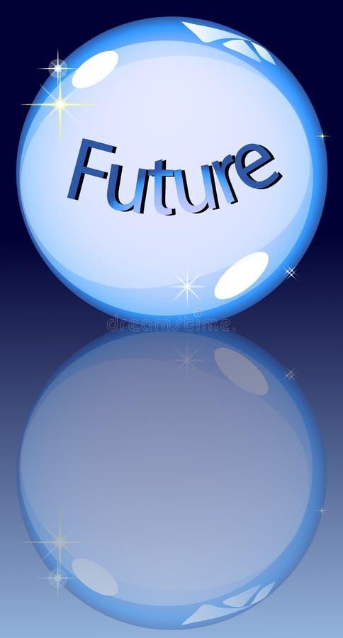 Futuro della sfera di cristallo royalty illustrazione gratis