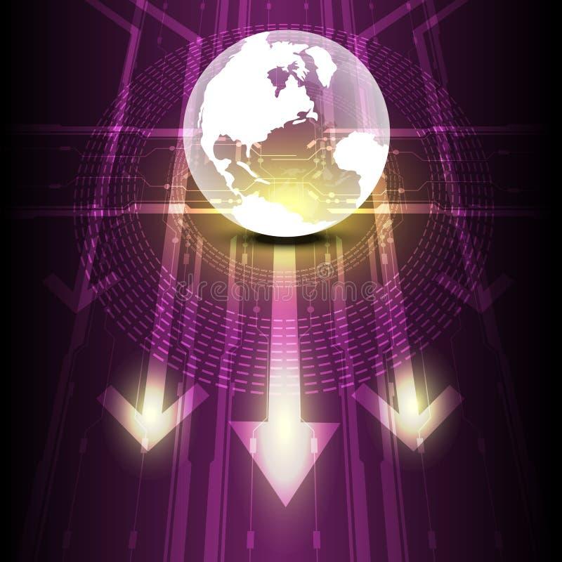 Futuro digital do globo transparente ilustração stock