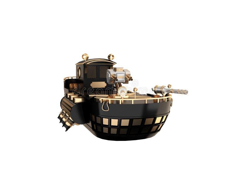 Futuro do navio de guerra ilustração royalty free