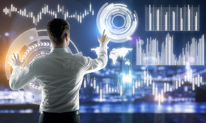 Futuro e concetto di finanza fotografia stock libera da diritti