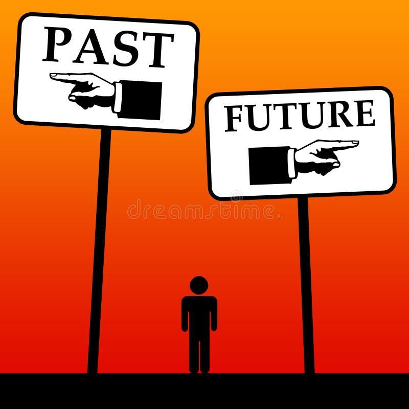 Futuro e passado ilustração royalty free