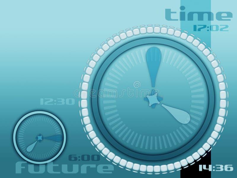 futuro e vida do tempo ilustração stock