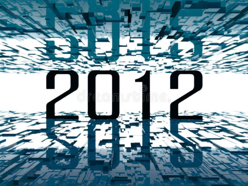 futuro luminoso 2012 illustrazione vettoriale