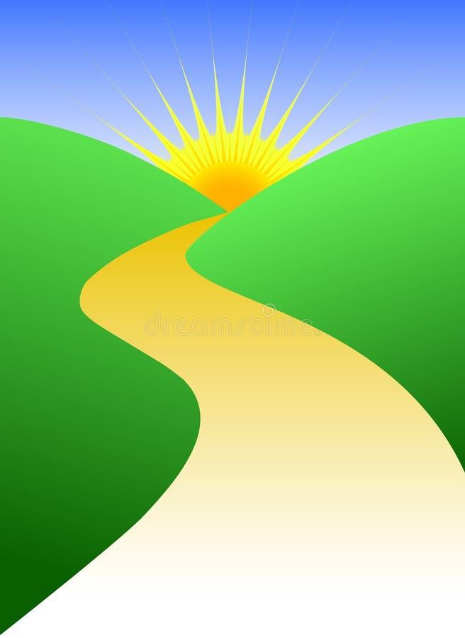 Futuro luminoso/ENV del percorso dorato illustrazione di stock