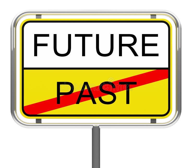Futuro-más allá de ilustración del vector