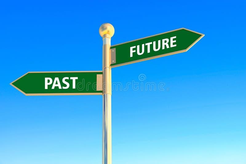 Futuro o pasado libre illustration
