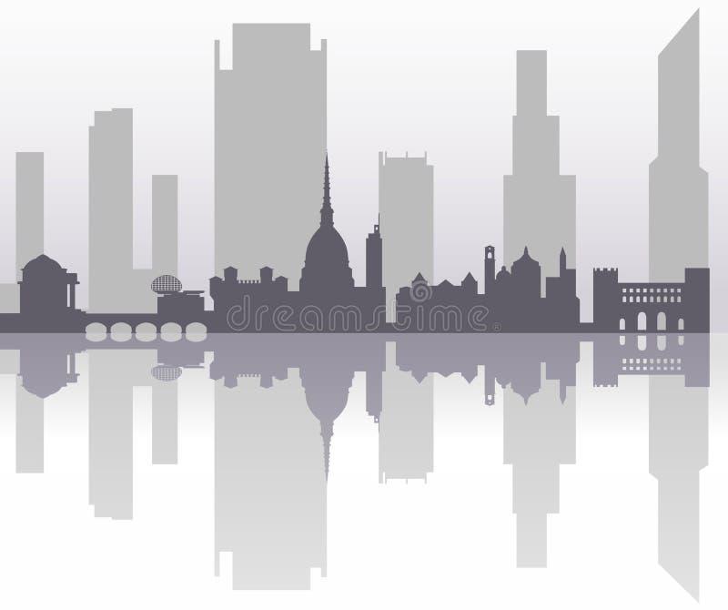 Futuro possibile di Torino illustrazione di stock